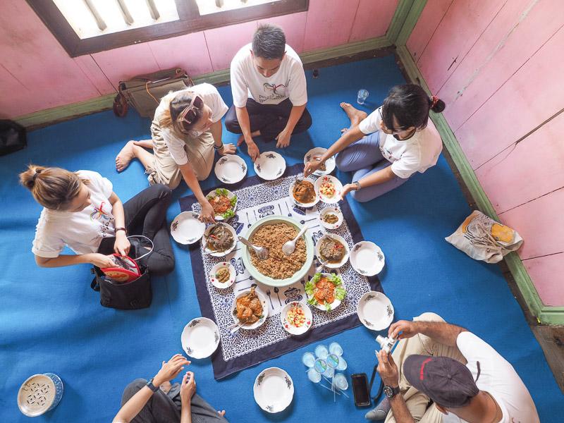 Makan ala nikahan tradisional palembang