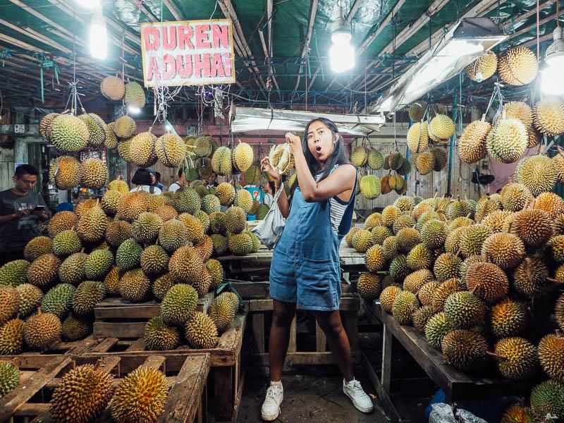 Mamang duren di pasar Kuto