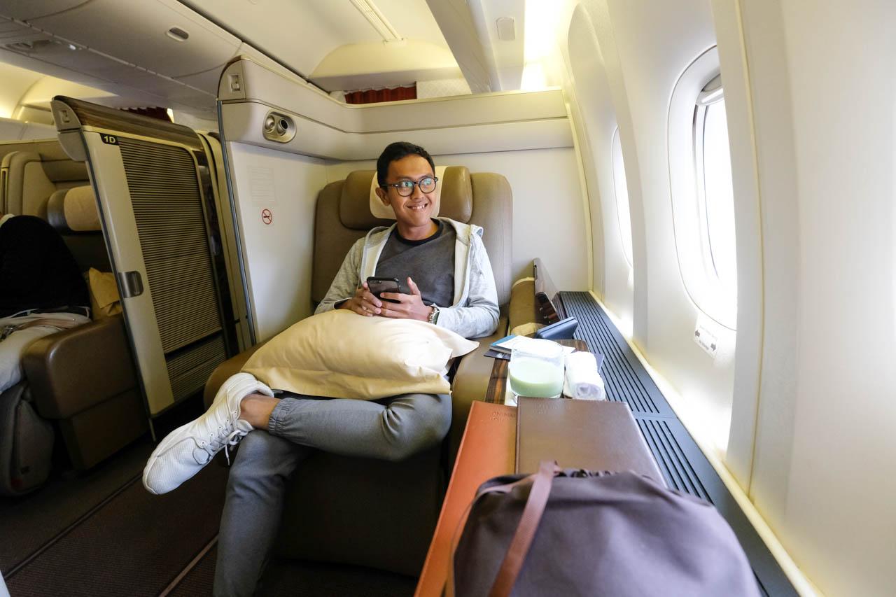 Pengalaman Terbang Jakarta Ke London Dengan First Class Garuda Indonesia Wira Nurmansyah