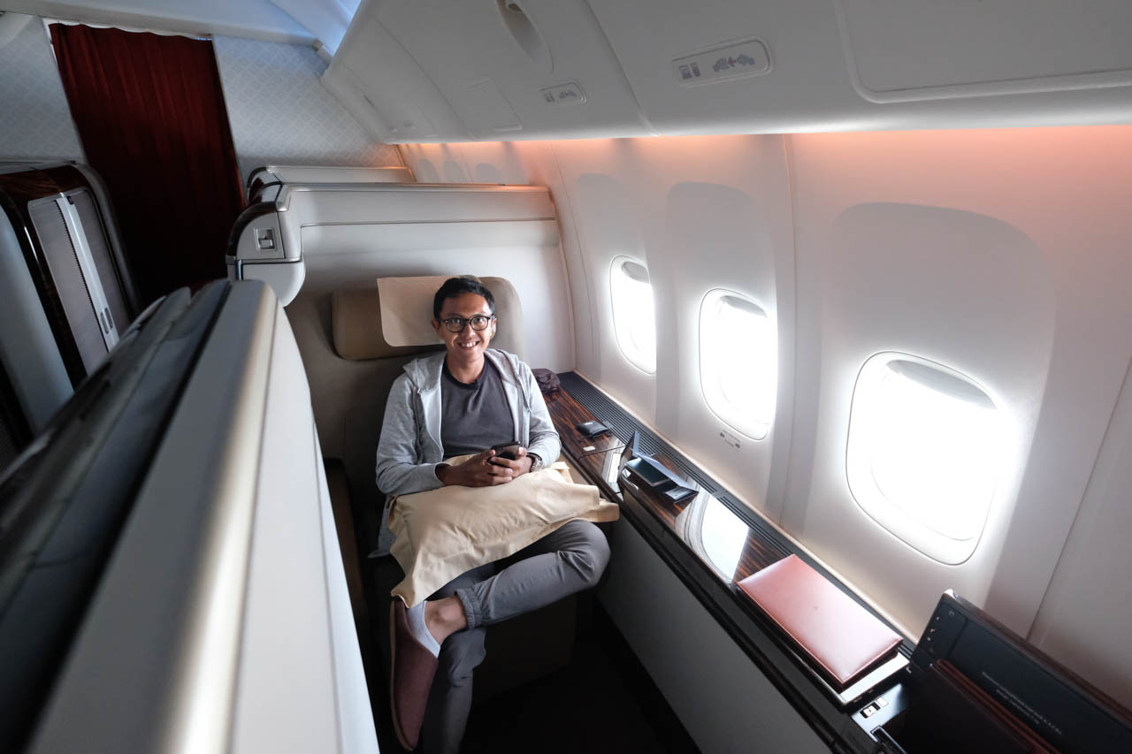 first class garuda indonesia review